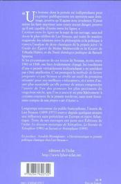 La Persecution Et L'Art D'Ecrire - 4ème de couverture - Format classique