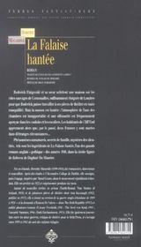 Falaise hantee - 4ème de couverture - Format classique