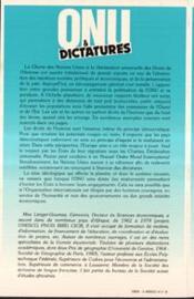 Onu Et Dictature - 4ème de couverture - Format classique