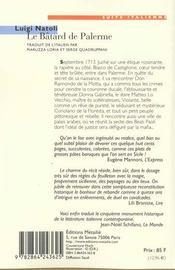 Le batard de Palerme - 4ème de couverture - Format classique