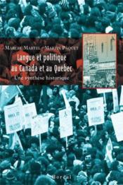 Langue et politique au Canada et au Québec - Couverture - Format classique