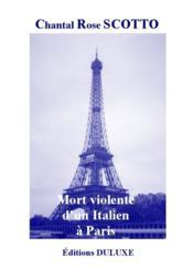 Mort violente d'un italien à Paris - Couverture - Format classique