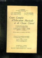 Cours Complet D Education Musicale Et De Chant Choral. Al Usage Des Lycees Colleges Et Des Cours Complementaires. Livre Ii. - Couverture - Format classique