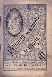 Almanach Des Enfants De Marie Pour 1912 - Couverture - Format classique