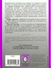 Les Collectvites Territoriales En France - 4ème de couverture - Format classique