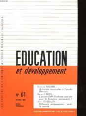 Education Et Developpement N°61 - Couverture - Format classique