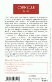 Le Cid - Couverture - Format classique