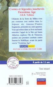 Contes et legendes inacheves - tome 2 deuxieme age - vol02 - 4ème de couverture - Format classique