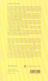 Par-delà les murs - 4ème de couverture - Format classique