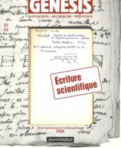 GENESIS N.20 ; écriture scientifique - Couverture - Format classique
