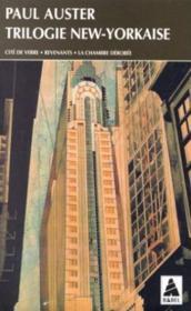 Trilogie new-yorkaise - cite de verre, revenants, la chambre derobee - Couverture - Format classique