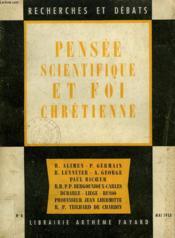 Pensee Scientifique Et Foi Chretienne. Recherches Et Debats N°4. - Couverture - Format classique