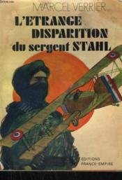 L'Etrange Disparition Du Sergent Stahl. - Couverture - Format classique