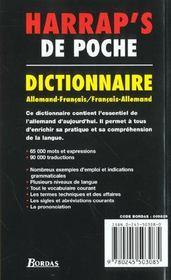 Harrap'S De Poche - 4ème de couverture - Format classique