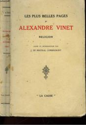 Les Plus Belles Pages D'Alexandre Vinet - Couverture - Format classique