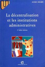 Decentralisation Institut 2e Ed - Couverture - Format classique