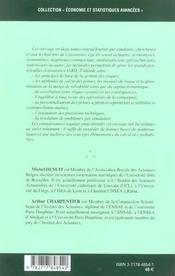 Mathematiques De L'Assurance Non-Vie - Volume 1, Principes Fondamentaux De La Theorie Du Risque - 4ème de couverture - Format classique