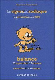 Zodiaques 2006 : Balance - Intérieur - Format classique
