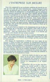 L'Entreprise Sur Mesure ; Redecouvrir Le Management De L'Essentiel - 4ème de couverture - Format classique