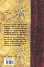 Astrologie Chinoise - 4ème de couverture - Format classique