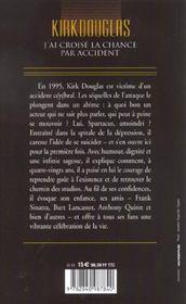 J'Ai Croise La Chance Par Accident - 4ème de couverture - Format classique