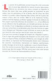Nos Ancetres Les Pervers ; La Vie Des Homosexuels Sous Le Second Empire - 4ème de couverture - Format classique