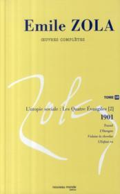 Oeuvres complètes t.19 : l'utopie sociale : les quatre Evangiles t.2 ; 1901 : travail ; l'ouragan ; Violaine la chevelue ; l'enfant roi - Couverture - Format classique