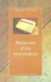 Memoire d'un repondeur - Couverture - Format classique