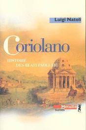 Coriolano - Intérieur - Format classique