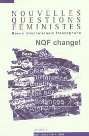 Revue Nouvelles Questions Feministes N.21/1 - Intérieur - Format classique