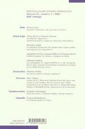 Revue Nouvelles Questions Feministes N.21/1 - 4ème de couverture - Format classique