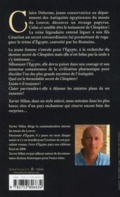 Le dernier secret de Cléopâtre - 4ème de couverture - Format classique