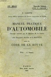 Manuel Pratique D'Automobile, Suivi Du Code De La Route - Couverture - Format classique