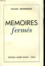 Memoires Fermees - Couverture - Format classique
