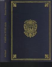 PARIS AU XVIIIe SIECLE - Couverture - Format classique