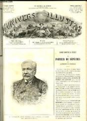 L'UNIVERS ILLUSTRE - VINGT-SIXIEME ANNEE N° 1499 M. Ferdinand de Lessps, promoteur du canal de Panama - Couverture - Format classique