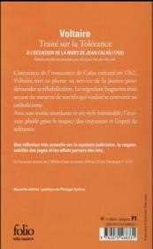 Traité sur la tolérance - 4ème de couverture - Format classique
