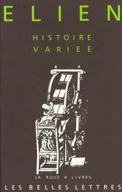 Histoire variee - Intérieur - Format classique