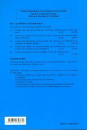 Method'H ; méthodes mathématiques pour classes préparatoires économiques et commerciales - 4ème de couverture - Format classique
