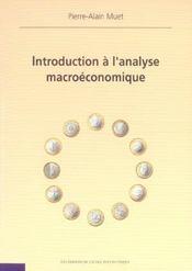 Introduction A L'Analyse Macroeconomique - Intérieur - Format classique