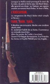 L'exécuteur t.1 ; guerre à la mafia - 4ème de couverture - Format classique