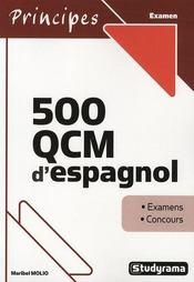 500 QCM d'espagnol - Intérieur - Format classique