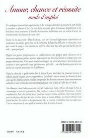 Amour chance reussite mode emp - 4ème de couverture - Format classique