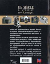 Un siecle d'invention photographique - 4ème de couverture - Format classique