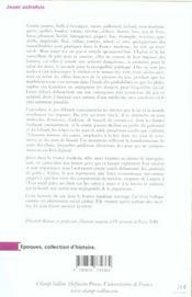 Jouer Autrefois ; Essai Sur Le Jeu Dans La France Moderne, Xvi-Xviii Siecle - 4ème de couverture - Format classique