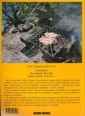 Connaitre la cuisine de l'ete - 4ème de couverture - Format classique
