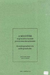 L'épine et sa mésange - 4ème de couverture - Format classique