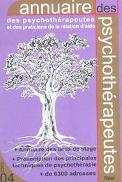 Annuaire Des Psychotherapeutes - Intérieur - Format classique