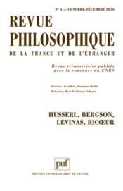 REVUE PHILOSOPHIQUE N.135/4 ; Husserl, Bergson, Levinas, Ricoeur - Couverture - Format classique
