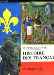 Histoire Des Francais. - Couverture - Format classique